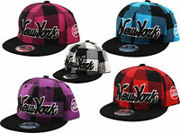 Unisex YOUTH - Kids - Lumberjack Snapback New York NY Check Snap Back Cap Hat