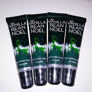 Set of 4 Bath & Body Works Lip Gloss Vanilla Bean noel Gift Set Brand New