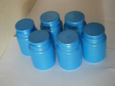 Plastic Cylindrical Paint Containers with Hinge Top Lid - Pack of 6 (Blue) £9.99