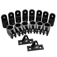 16 Pieces/Set SailBoat Deck Hinge Jaw Slide Eye End Cap for 4 Bow Bimini Top