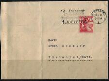 .German Cover 1937 Heidelberg Cancell.Baden Wurt.