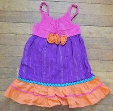Youngland Sun Dress Girls Sz. 4 Summer Easter Sparkles Pink Purple Orange