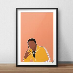 Pop Smoke INSPIRED WALL ART Print / Poster Minimal A4 A3 rap rapper the woo