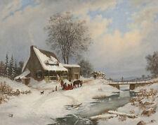 Krieghoff Cornelius Visitors In Winter Print 11 x 14  #4582
