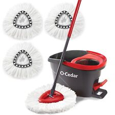 O-Cedar Easy Wring Spin Mop and Bucket System- 3 Extra Refills and Free Packagin