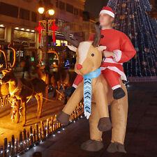 Christmas Adult Inflatable Costume Santa Claus Unisex Ride-On Elk Cosplay Suit