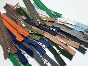 Trouser jean skirt zips zipper. Various Colours and sizes YKK & riri