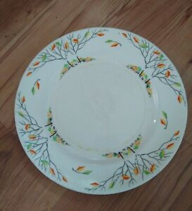 Vintage 1930s Art Deco Tams Ware Rimmed Tea Plate Autumn Trees - Windwood