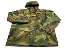 Vintage Cabelas Jacket Gore-Tex Hunting Hooded Camo Camouflage Mens Size XL USA