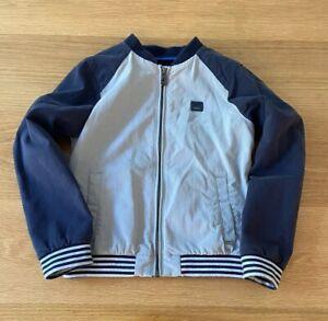 Armani Junior Boys Grey Navy Jacket, Sz 8A
