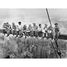 Lunch Atop A Skyscraper New York 1932 Iconic Photo Canvas Wall Art Print Poster