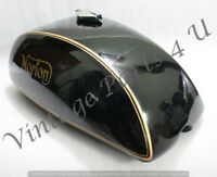 NORTON COMMANDO INTERSTATE 750 850 MKII STEEL GAS FUEL TANK BLACK PAINTED
