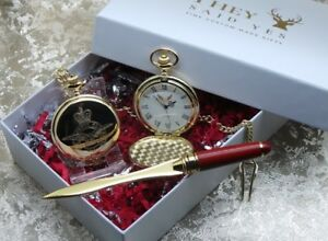 Personalised RAF Pocket Watch and Letter Opener  Luxury Royal Air Force Gift Set