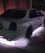 jhblighting 2PCS 4FT + 2PCS 6.5FT Double Row Pure White LED Underglow Strips Kit
