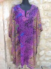 Kaftan Robe Top caftan tunique plage piscine violet Jaune Noir Bleu M L XL XXL