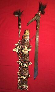 Rare Original Dayak Headhunter Borneo Tribal Mandau Knife Sword Sheath