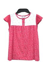 Marks & Spencer Pink Mix Top Age 5-6 Pure Cotton Cap Sleeve