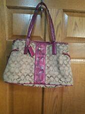 COACH Signature Python Stripe Carryall Shoulder Bag Handbag  F24882