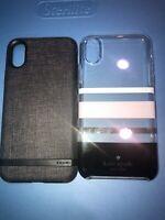 Lot Of 2pc Authentic iPhone XS Kate Space Case, Incipio Case