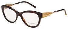 Burberry Eyeglasses BE 2210 3002 53 Dark Havana Frame [53-17-140]