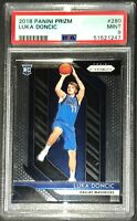 Luka Doncic 2018 Panini Prizm Rookie Card RC #280 PSA 9 Mint Mavericks