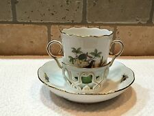 Herend Double-Handled Trembleuse Cup & Saucer Set- Rothschild