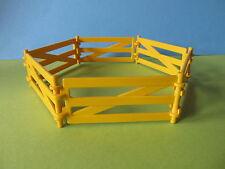 Playmobil Zaun gelb Bauernhof 6,-teilig Set komplett Gehege erweiterbar zu Tiere