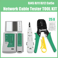 RJ45 RJ11 RJ12 Cat5e LAN Network Tool Kit Cable Tester Crimp Crimper Plier Set