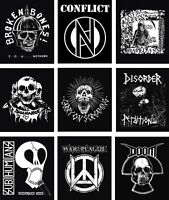 PUNK BACKPATCH Fabric back patch discharge war plague exploited subhumans doom