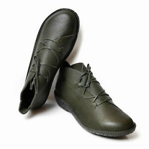 LOINTS OF HOLLAND FUSION WOMEN'S SHOES LACES LEATHER GREEN