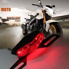 SUPPORT DE PLAQUE + FEU STOP VEILLEUSE MOTO R1 R6 CBR HORNET NINJA DUCATI ...