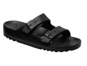 Scholl Bahia EVA Sandals in Black Pool Spa Beach