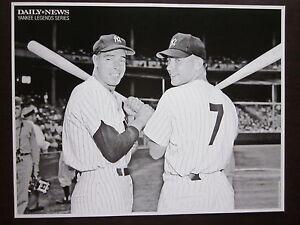 NY Yankees  DiMaggio Mantle Photo 1951 Daily News B & W 8.5 x 11 Nr Mint