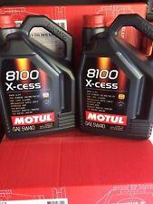MOTUL 8100 X-CESS 5W-40 5 LITER BOTTLES 2pack 2.5 gallons 100% synthetic 102870