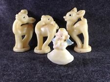Vintage Christmas Candles, Lot of 4