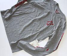 New True Religion Men Red Logo Gray  Shirt 2XL XXL XXLARGE