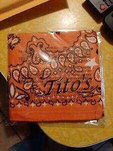 Tito's Vodka Bandana - Orange- New, Still in plastic