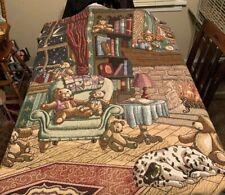 Bears And Dog Throw Blanket