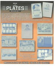 2016 LEAF PLATES HOCKEY HOBBY BOX ALL CARDS ARE ONE OF ONE PLATES 1/1