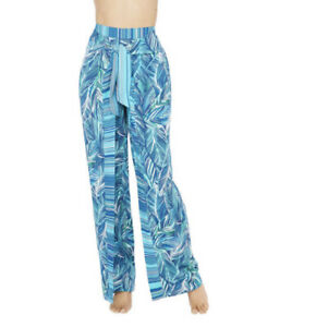 LA BLANCA Size Large Two Cool Cover-up Pants in Blue Lightweight