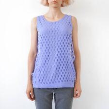 HOF115: COS Top ärmellos violett / Perforated layer top sleeveless purple S