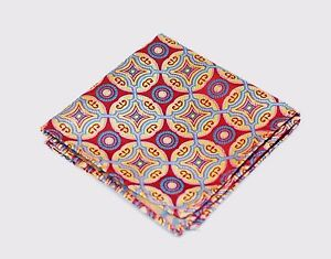 Lord R Colton Masterworks Pocket Square - Isla Negra Red Silk - $75 Retail New