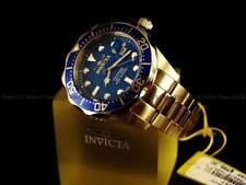 Invicta Mens 47mm Grand Diver Quartz Carbon Fiber Blue Dial 18K Gold IP SS Watch