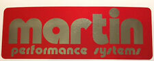 MOTO MARTIN PERFORMANCE EXHAUST SYSTEMS DECAL 128MM X 45MM
