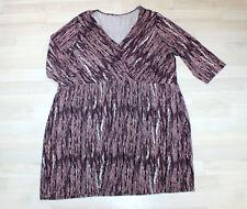 S.OLIVER Stretch Sommer Kleid Damen lila 56 V-Ausschnitt 3/4 Arm legere TOP 4399