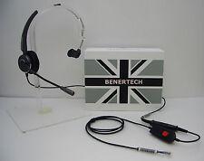 Benertech Headset + Mute Switch for Avaya Nortel Hybrex Nec Aspire Toshiba Ascom