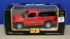 Maisto 31912 1:26 1995 Dodge Ram Pickup MIB Red 1998
