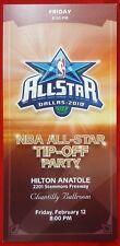2010 NBA ALL-STAR TIP-OFF PARTY TICKET Hilton Anatole Hotel DALLAS, TX 2/12/10