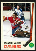 Custom made OPC 1969-70 Montreal Canadiens Rogie Vachon hockey card red