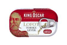 "King Oscar Cod Liver, 121 g. tin from Lofoten, Norway. ""Foie gras"" of the sea"